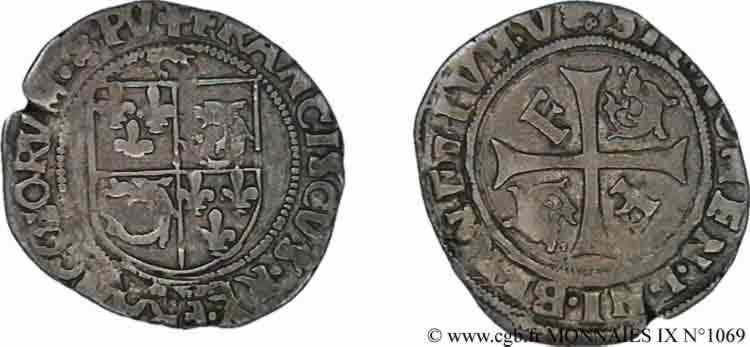 N° v09_1069 Douzain ou grand blanc du Dauphiné, 8e type - sd., (1533-1538)