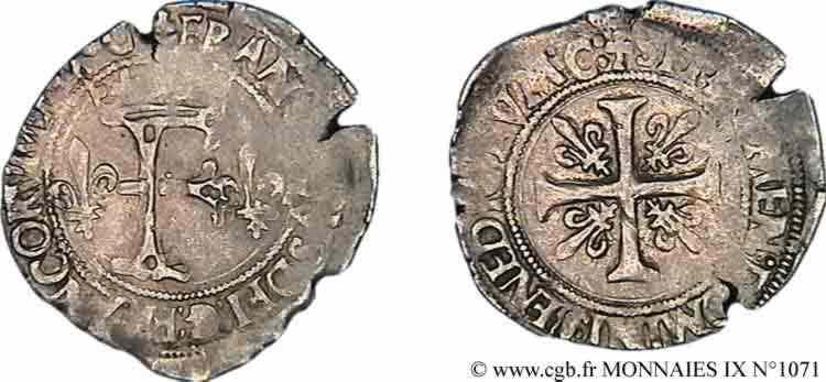 N° v09_1071 Dizain franciscus, 1er type - 21/07/1519