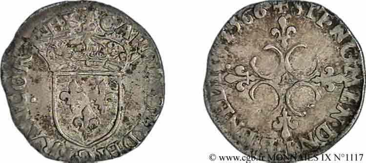 N° v09_1117 Sol parisis , 1er type - 1566