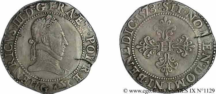 N° v09_1129 Franc au col plat - 1578