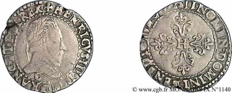 N° v09_1140 Quart de franc au col plat - 1579