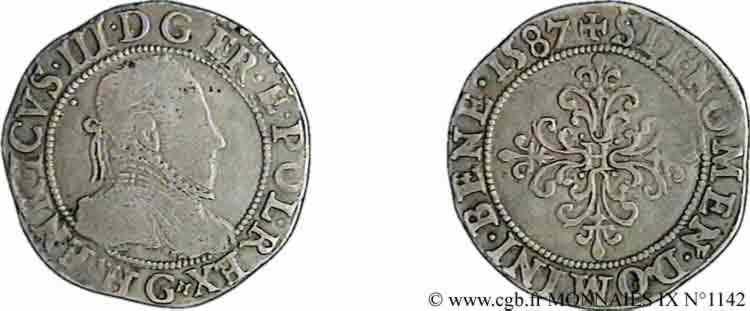 N° v09_1142 Quart de franc au col plat - 1587