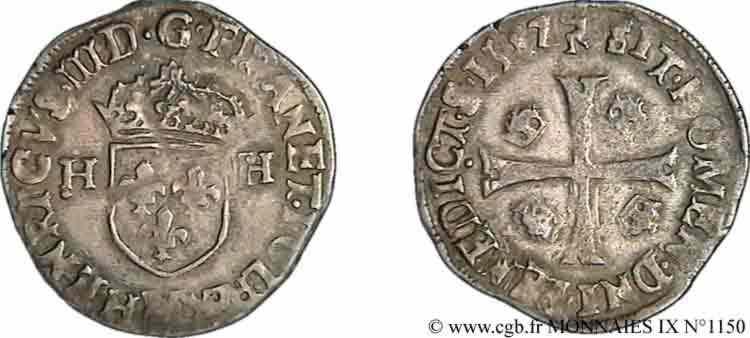 Faux d'époque d' un Douzain Huguenot sous Louis XIII. V09_1150