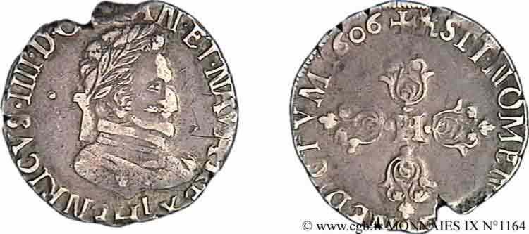 N° v09_1164 Demi-franc, type de Limoges - 1606