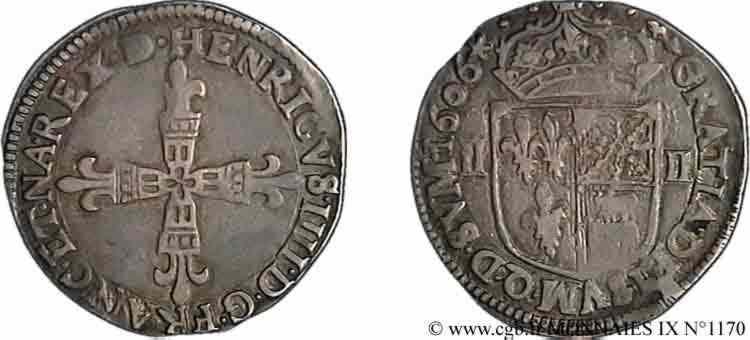 N° v09_1170 Quart d'écu de Béarn - 1606