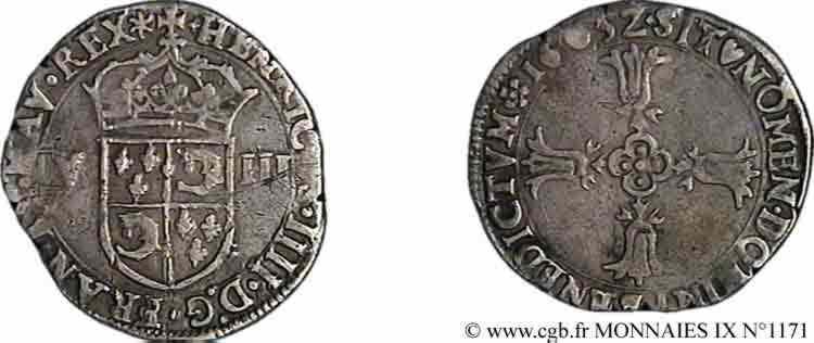 N° v09_1171 Huitième d'écu du Dauphiné - 1603