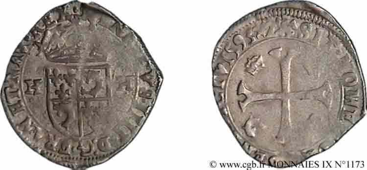 N° v09_1173 Douzain du Dauphiné aux deux H, 2e type - 1593