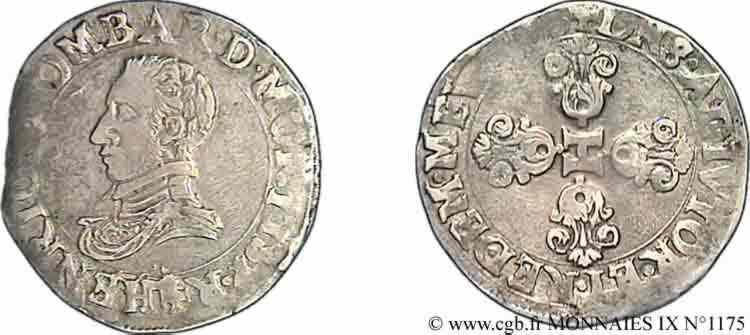 N° v09_1175 Demi-franc - 1603