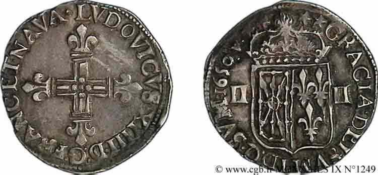N° v09_1249 Quart d'écu de Navarre - 1650