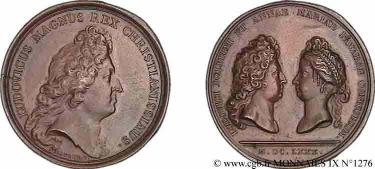 N° v09_1276 Médaille BR 41, mariage du dauphin Louis - 1680