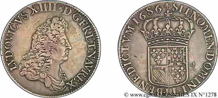 N° v09_1278 Écu de Flandre - 1686