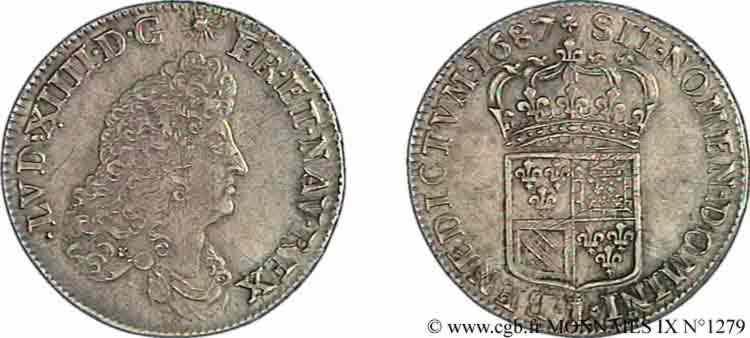 N° v09_1279 Demi-écu de Flandre - 1687