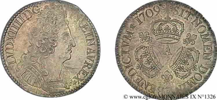 N° v09_1326 Écu aux trois couronnes - 1709