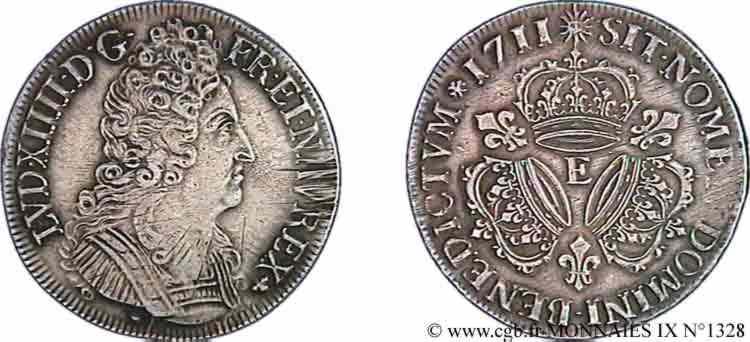 N° v09_1328 Écu aux trois couronnes - 1711