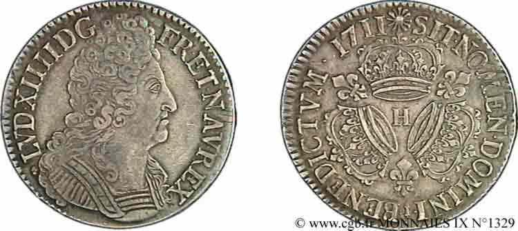 N° v09_1329 Écu aux trois couronnes - 1711