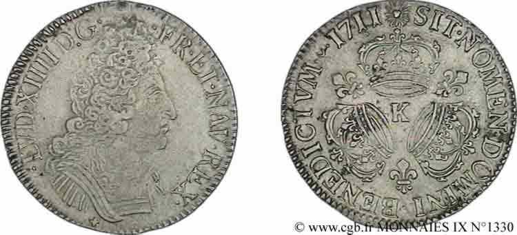 N° v09_1330 Écu aux trois couronnes - 1711