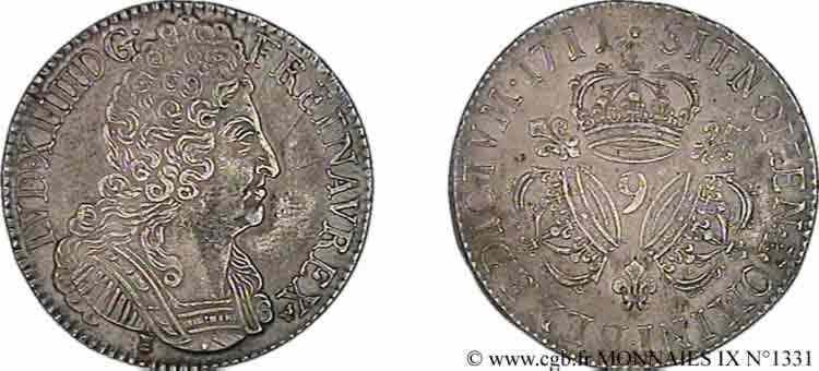 N° v09_1331 Écu aux trois couronnes - 1711