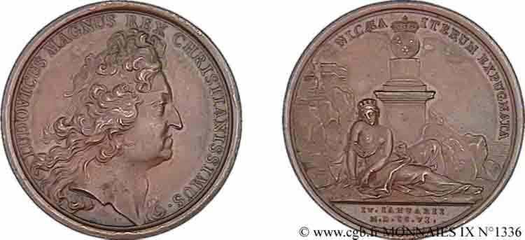 N° v09_1336 Médaille BR 41, prise de Nice (4 janvier 1706) - 1706