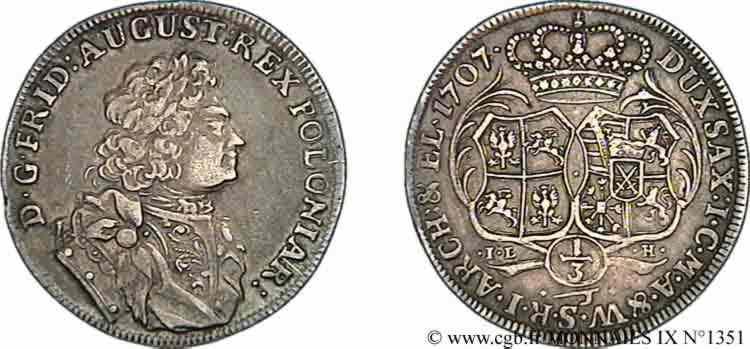 N° v09_1351 Tiers de Thaler - 1707