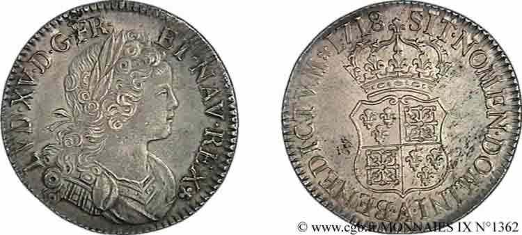 N° v09_1362 Écu de Navarre - 1718