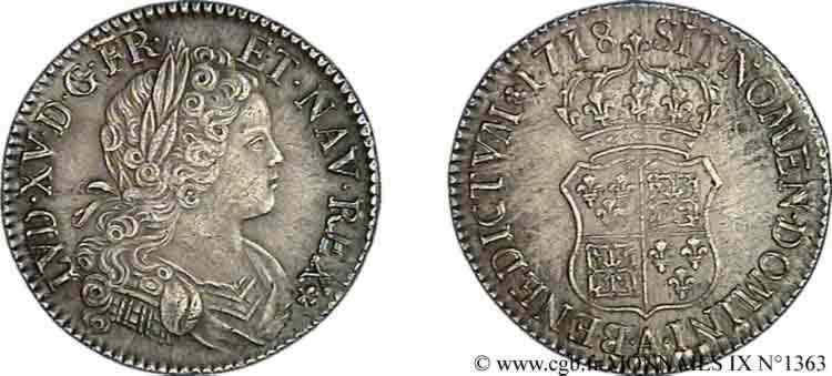 N° v09_1363 Écu de Navarre - 1718