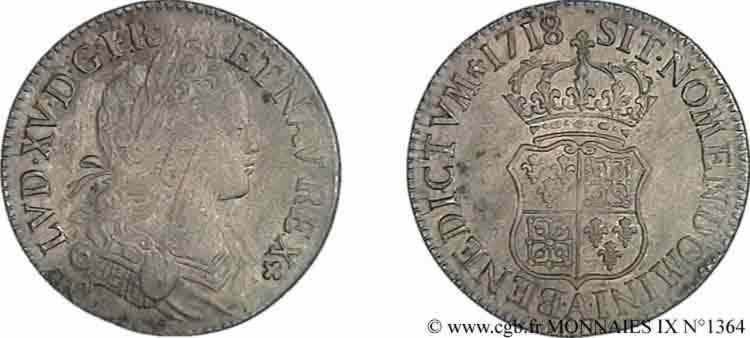 N° v09_1364 Écu de Navarre - 1718