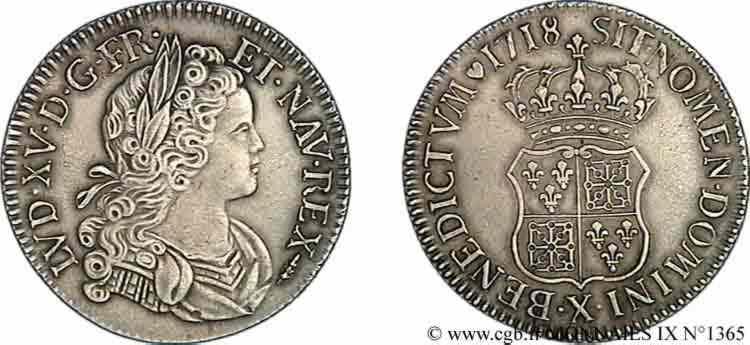 N° v09_1365 Écu de Navarre - 1718