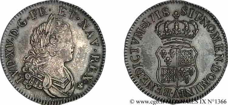 N° v09_1366 Demi-écu de Navarre - 1718