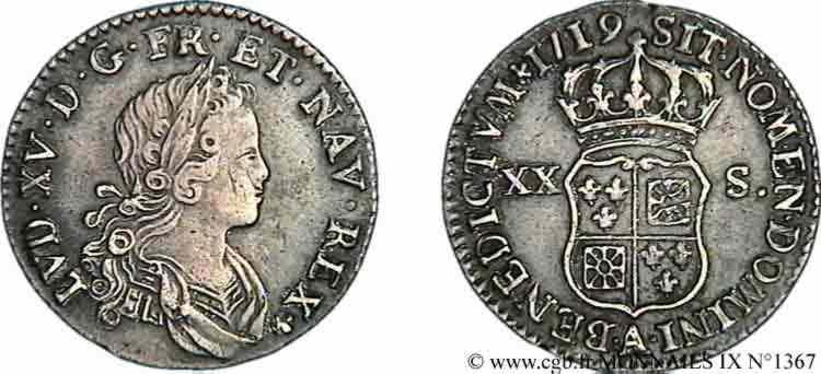 N° v09_1367 XX sols de Navarre - 1719