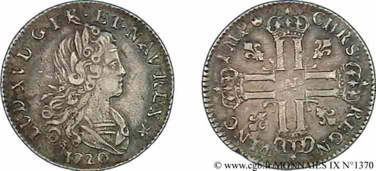 N° v09_1370 Petit louis d'argent - 1720