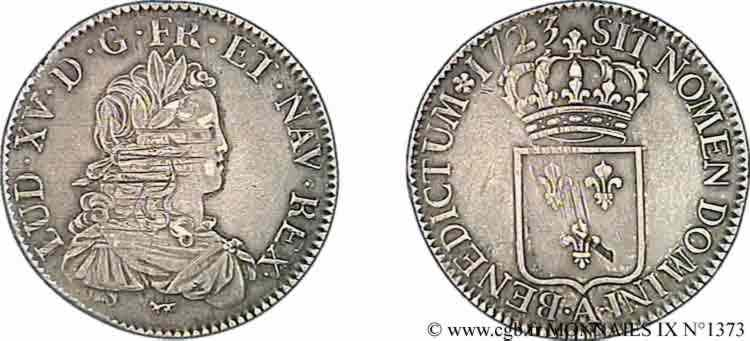 N° v09_1373 Écu de France - 1723