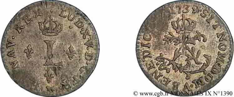 N° v09_1390 Sol de billon - 1739