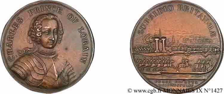 N° v09_1427 Médaille BR 43, reddition de Prague du 26  novembre 1744 - 1744