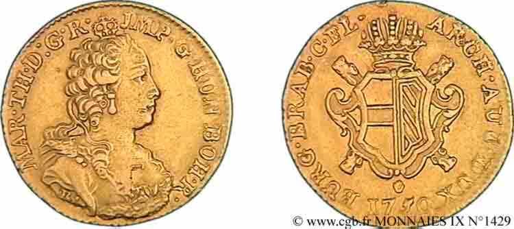 N° v09_1429 Souverain d'or, 2e type - 1750