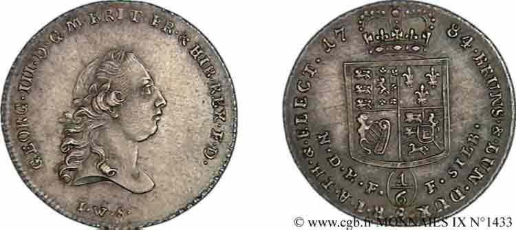 N° v09_1433 Sixième de thaler - 1784