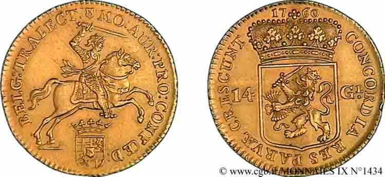 N° v09_1434 14 gulden ou cavalier d'or - 1760