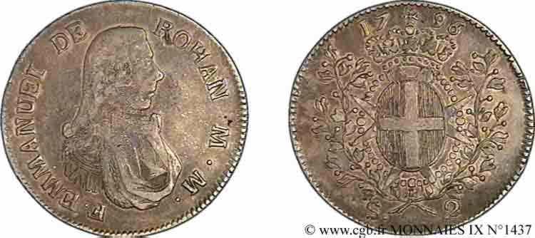 N° v09_1437 Deux scudi - 1796