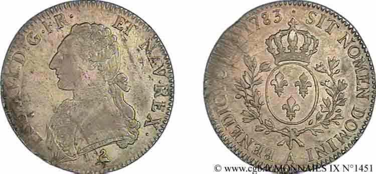 """N° v09_1451 Écu dit """"aux branches d'olivier"""" - 1783"""