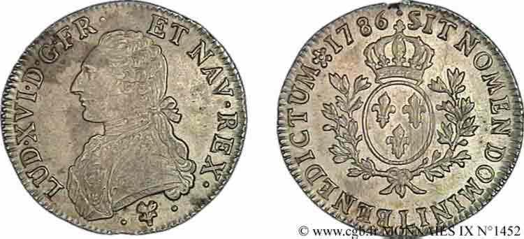 """N° v09_1452 Écu dit """"aux branches d'olivier"""" - 1786"""