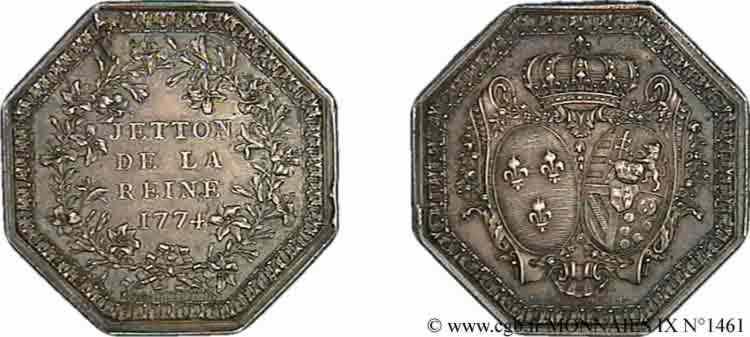 N° v09_1461 Jeton de la reine - 1774