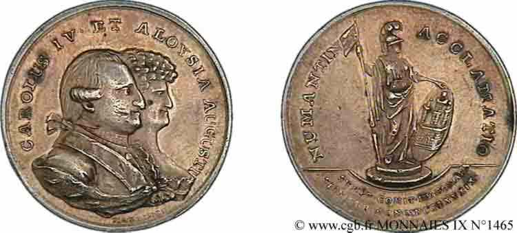 N° v09_1465 Médaille de proclamation de Soria - 1789