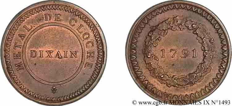 N° v09_1493 Dixain de Rochon (Essai) - 1791