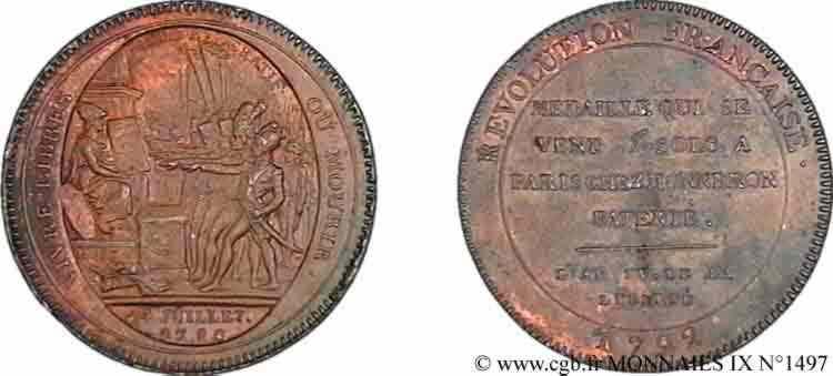 N° v09_1497 Monneron de 5 sols au Serment - 1792