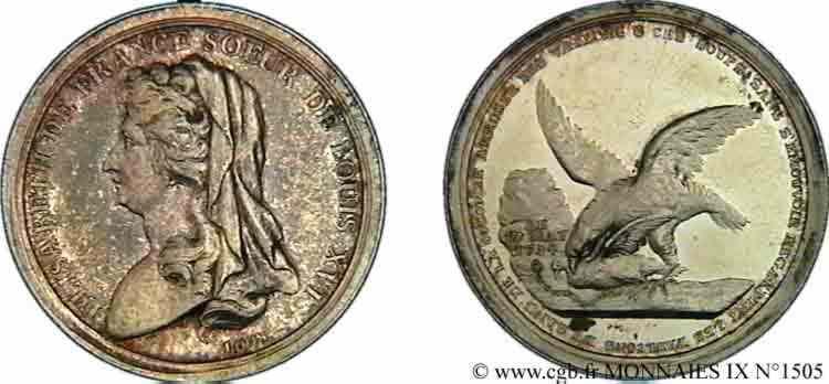N° v09_1505 Jeton AR 30,5 dénonçant l'exécution de la sœur de Louis XVI (10 mai 1794) -