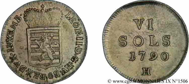 N° v09_1506 VI sols - 1790