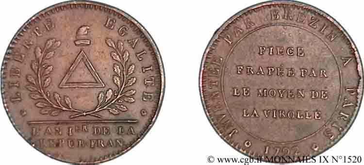 N° v09_1520 Essai au bonnet de Brézin - 1792