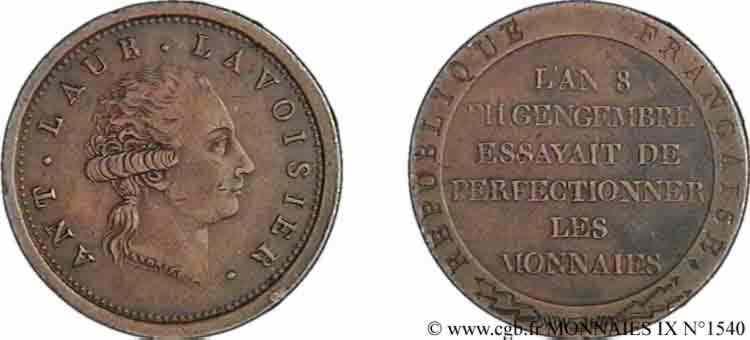 N° v09_1540 Essai au module de 2 francs de Lavoisier par Gengembre - An 8