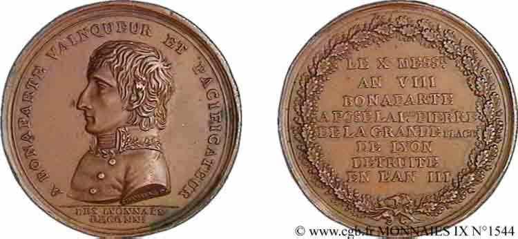 N° v09_1544 Médaille Br 43 de Chavanne, rétablissement de la place Bellecour à Lyon - An X