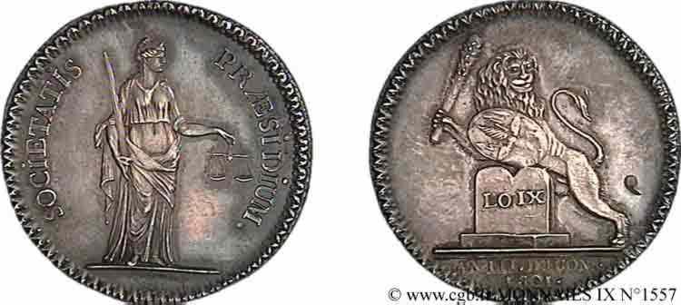 N° v09_1557 Jeton Ar 30, Nouvelle chambre de Justice de Lyon - 1801