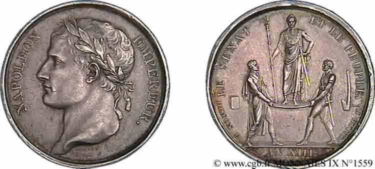 N° v09_1559 M�daille AR 26, sacre de l'empereur - AN XIII